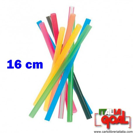 Cannucce Colorate Rigide 16 cm 500 pz.