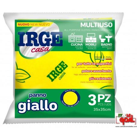 Panno Giallo Irge 35x35 (3 Pz)