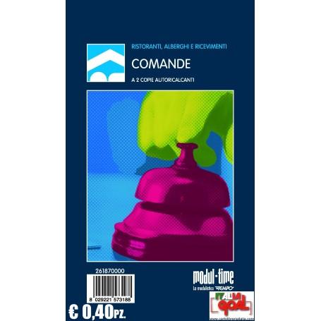 Blocco Comande 2 Copie Autoricalcanti (10x17cm) (Conf. 40 Pz.)