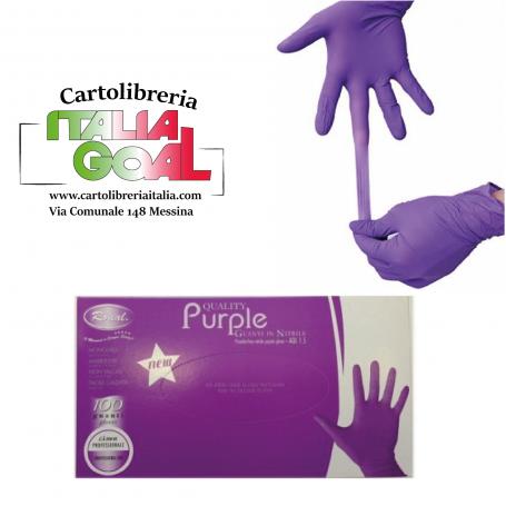 Guanti in Nitrile Viola Roial Purple
